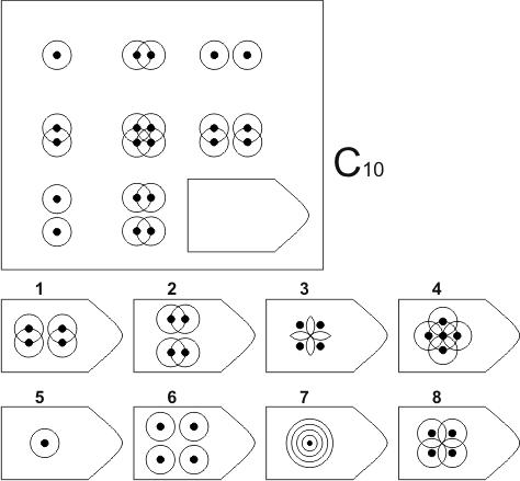 прогрессивные матрицы Равена, серия C, карточка 10