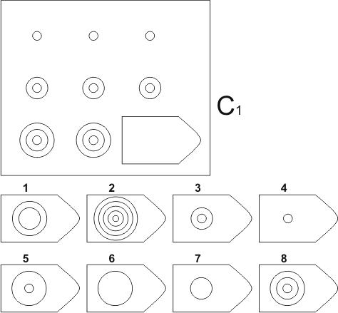 прогрессивные матрицы Равена, серия C, карточка 1