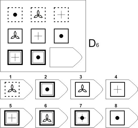 прогрессивные матрицы Равена, серия D, карточка 6