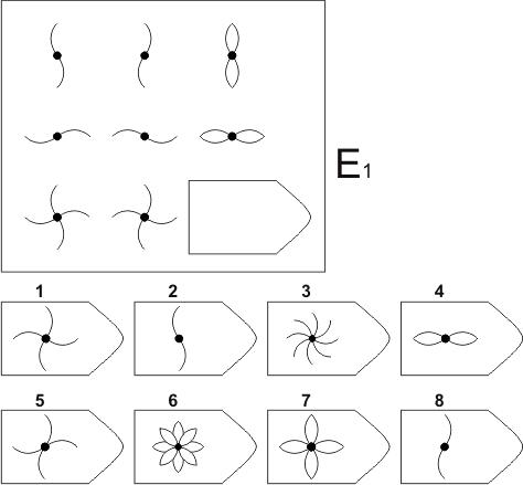 прогрессивные матрицы Равена, серия E, карточка 1