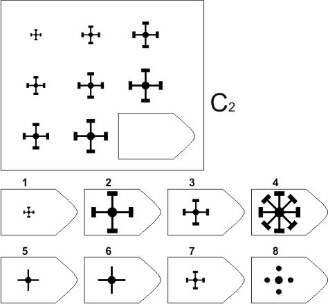 прогрессивные матрицы Равена, серия C, карточка 2
