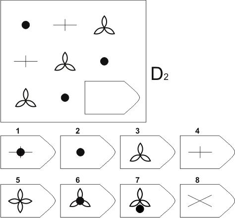 прогрессивные матрицы Равена, серия D, карточка 2