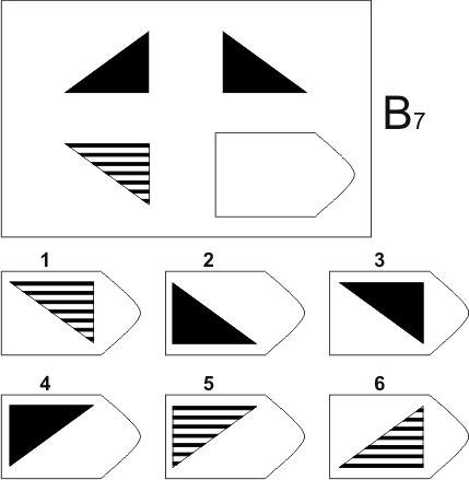 прогрессивные матрицы Равена, серия B, карточка 7