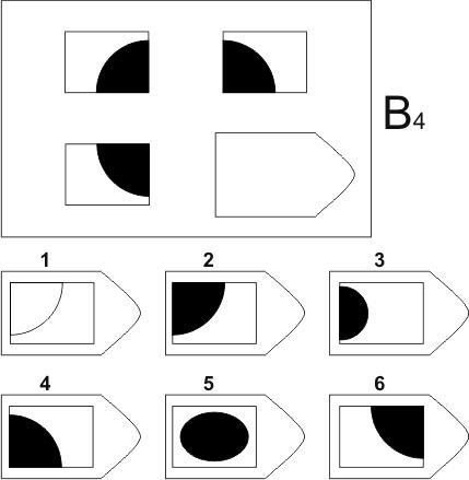 прогрессивные матрицы Равена, серия B, карточка 4