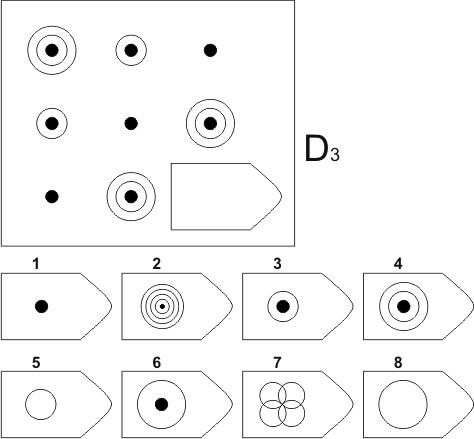 прогрессивные матрицы Равена, серия D, карточка 3