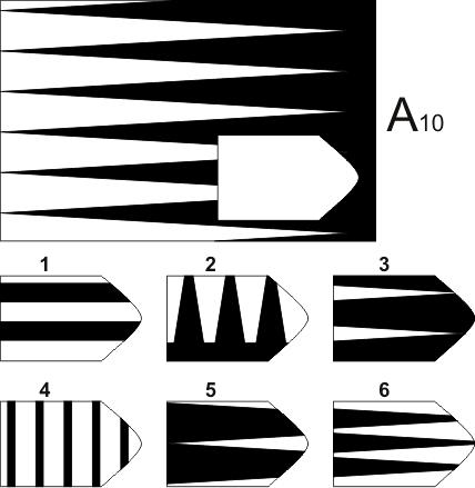 прогрессивные матрицы Равена, серия А, карточка 10