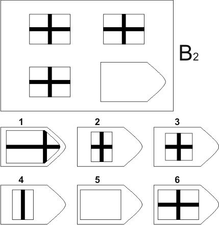 прогрессивные матрицы Равена, серия B, карточка 2