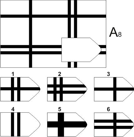 прогрессивные матрицы Равена, серия А, карточка 8