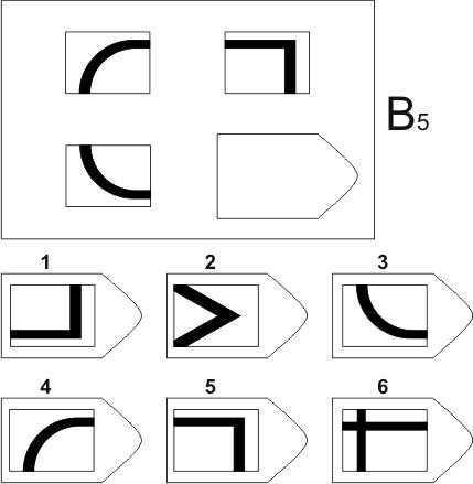 прогрессивные матрицы Равена, серия B, карточка 5