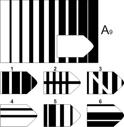 прогрессивные матрицы Равена, серия А, карточка 9