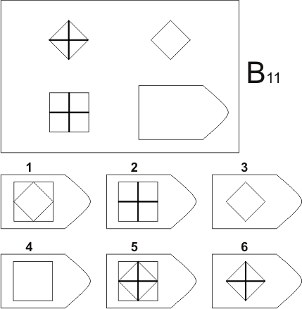 прогрессивные матрицы Равена, серия B, карточка 11