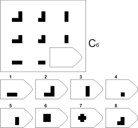 прогрессивные матрицы Равена, серия C, карточка 6
