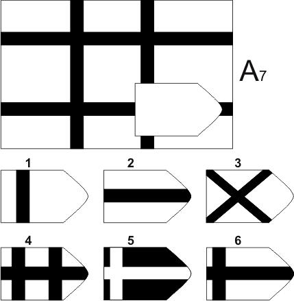 прогрессивные матрицы Равена, серия А, карточка 7