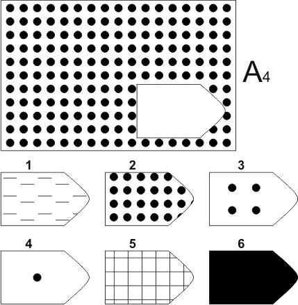 прогрессивные матрицы Равена, серия А, карточка 4