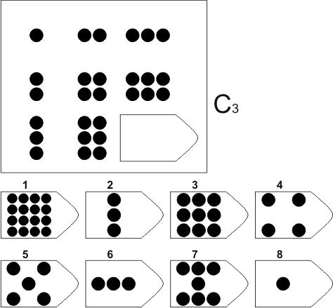 прогрессивные матрицы Равена, серия C, карточка 3
