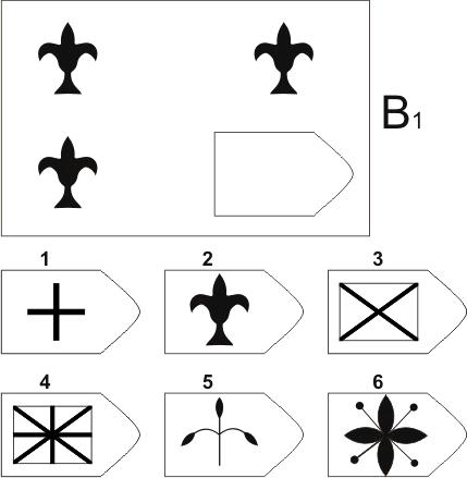 прогрессивные матрицы Равена, серия B, карточка 1