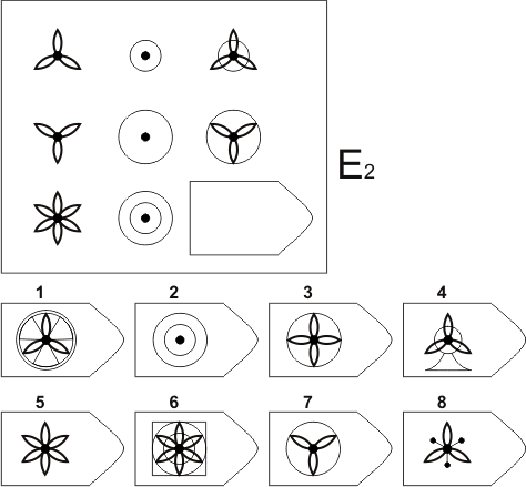 прогрессивные матрицы Равена, серия E, карточка 2