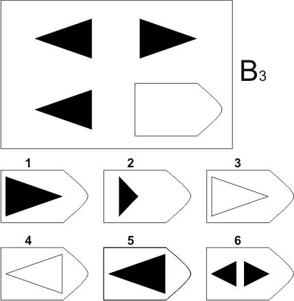 прогрессивные матрицы Равена, серия B, карточка 3