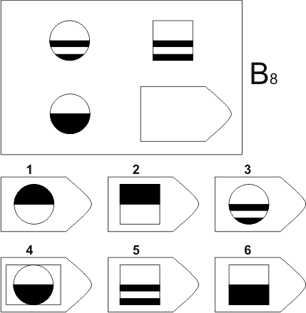 прогрессивные матрицы Равена, серия B, карточка 8