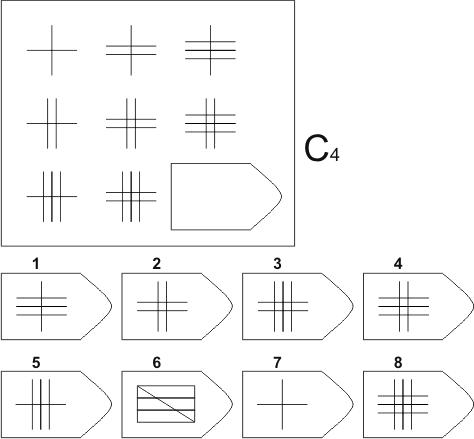 прогрессивные матрицы Равена, серия C, карточка 4