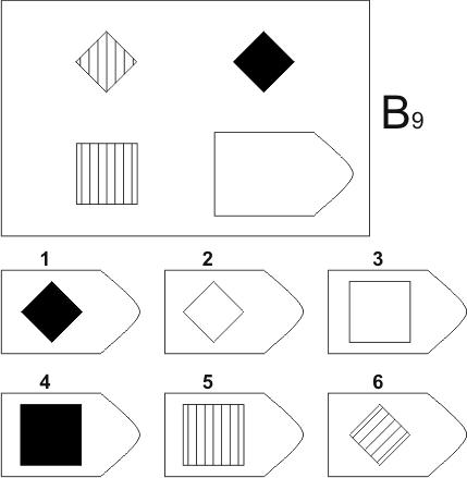 прогрессивные матрицы Равена, серия B, карточка 9