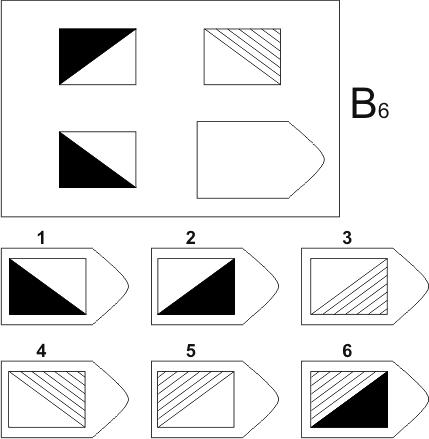 прогрессивные матрицы Равена, серия B, карточка 6