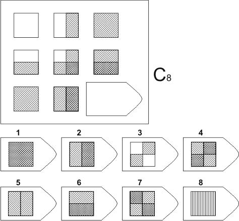 прогрессивные матрицы Равена, серия C, карточка 8
