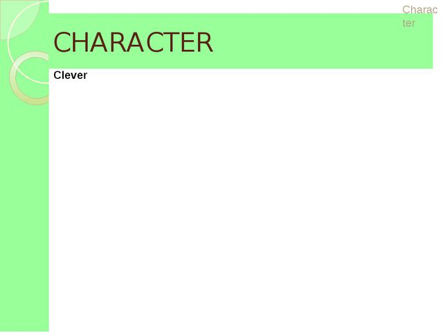 CHARACTER Appearance