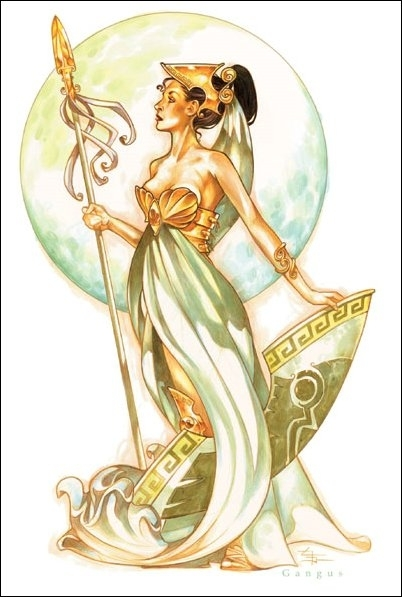 Beautiful Athena Goddess