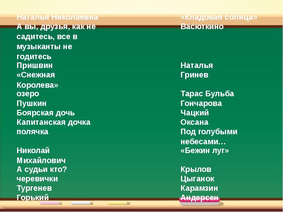Наталья Николаевна  «Кладовая солнца» А вы, друзья, как не садитесь, все в...