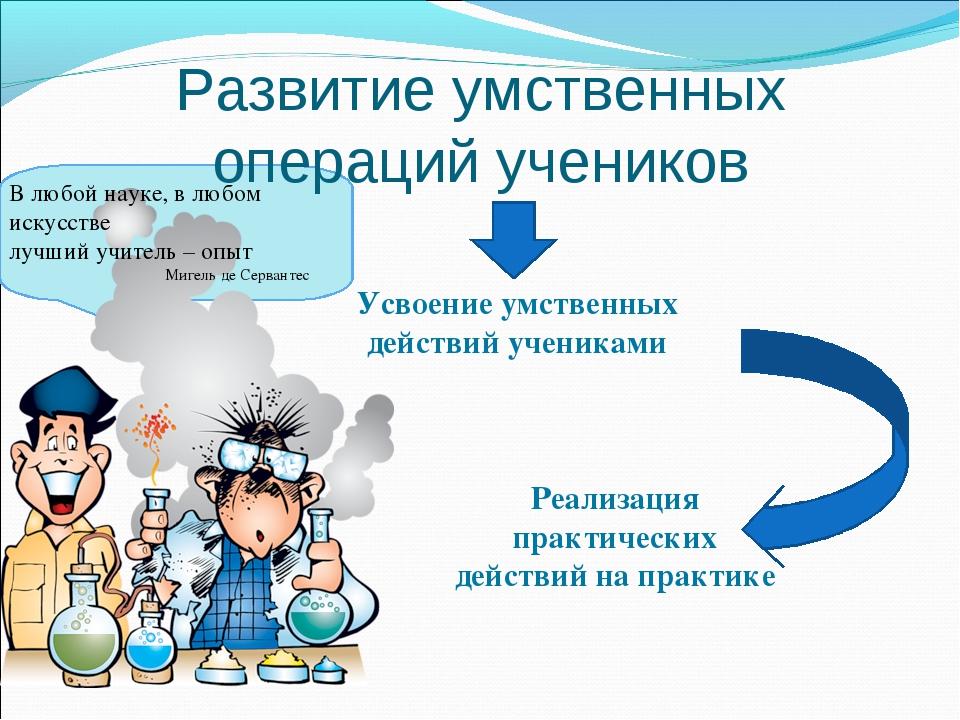 Развитие умственных операций учеников Реализация практических действий на пра...