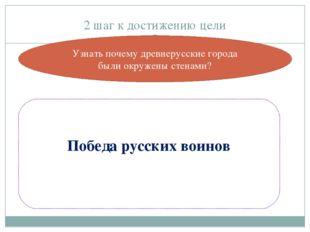 2 шаг к достижению цели Победа русских воинов Узнать почему древнерусские гор