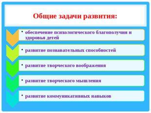 Общие задачи развития: