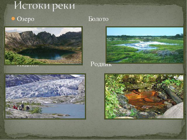 Озеро Болото Ледник Родник