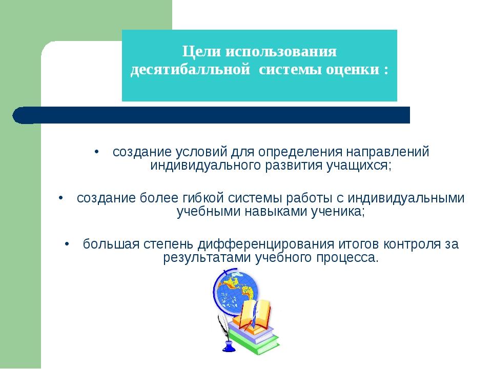 •создание условий для определения направлений индивидуального развития учащ...