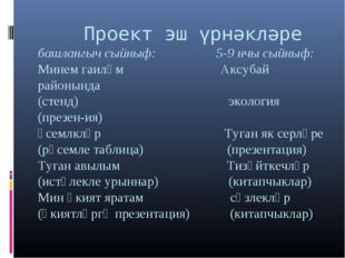 Проект эш үрнәкләре башлангыч сыйныф: 5-9 нчы сыйныф: Минем гаиләм Аксубай р