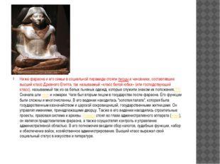 Ниже фараона и его семьи в социальной пирамиде стояли писцы и чиновники, сос
