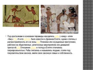 Под крестьянами в основании пирамиды находились рабы («хемуу» и/или «баку»[7