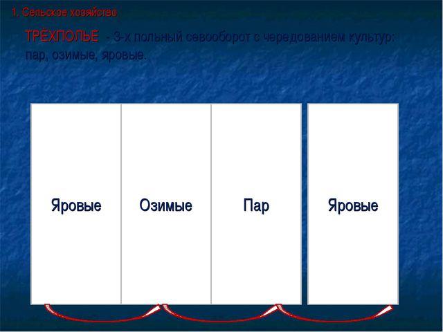 ТРЁХПОЛЬЕ - 3-х польный севооборот с чередованием культур: пар, озимые, яровы...