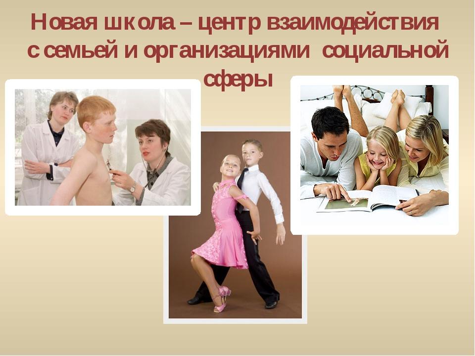 Новая школа – центр взаимодействия с семьей и организациями социальной сферы