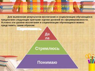 Для выявления результатов воспитания и социализации обучающихся предлагаем с