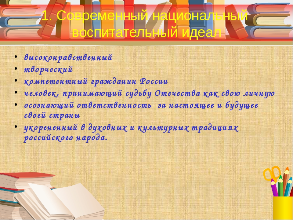 высоконравственный творческий компетентный гражданин России человек, принимаю...