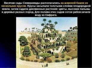 Висячие сады Семирамиды располагались на широкой башне из нескольких ярусов.