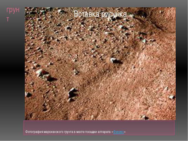 грунт Фотография марсианского грунта в месте посадки аппарата «Феникс»