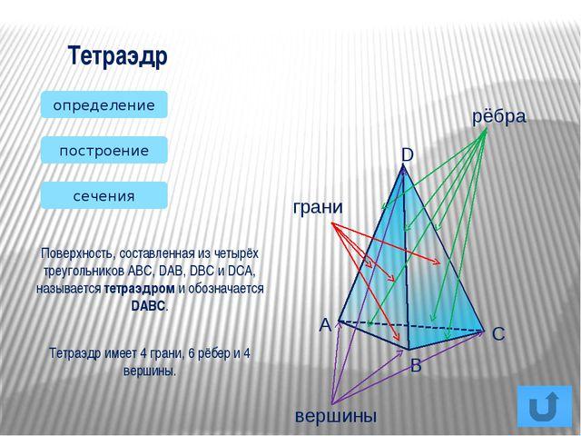 Тетраэдр Параллелепипед