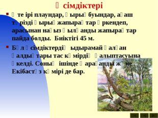 Өсімдіктері Өте ірі плаундар, қырықбуындар, ағаш тәрізді қырықжапырақтар өрке