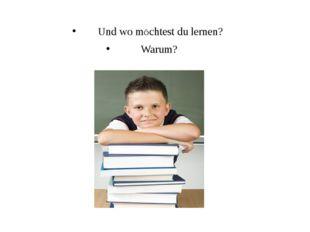 Und wo mÖchtest du lernen? Warum?
