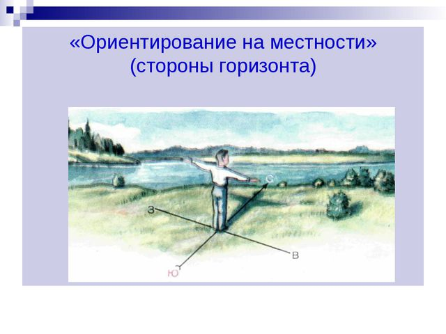 «Ориентирование на местности» (стороны горизонта)