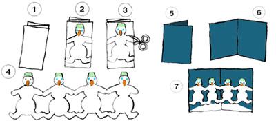 Как сделать гирлянду из бумаги гармошку