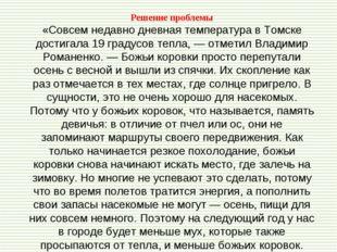 Решение проблемы «Совсем недавно дневная температура в Томске достигала 19 гр